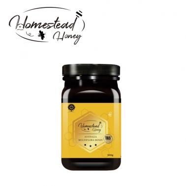 保税直发 澳洲进口homesteadhoney澳康佳源纯蜂蜜TA5+纯正天然野生非麦卢卡 500g